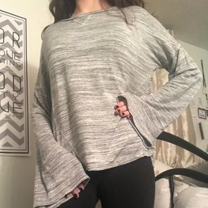 Long flare sleeve top